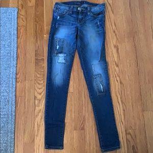 FLYING MONKEY patch jeans